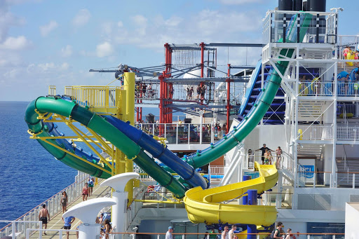 The Free Fall waterslide (also known as the Aqua Loop), a body slide on Norwegian Escape.