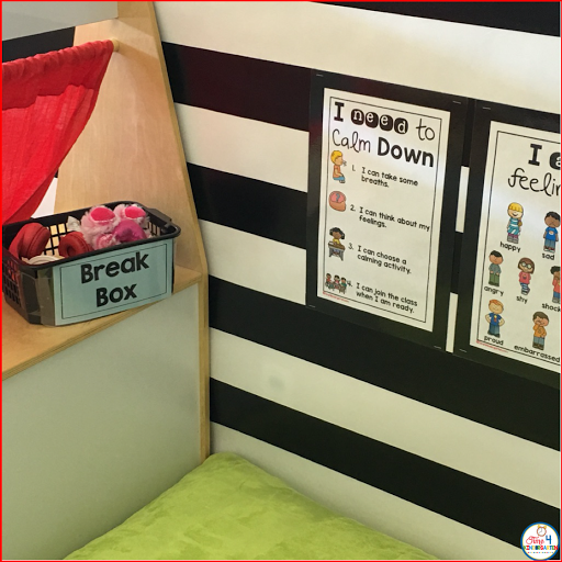 calm down posters and task cards for the classroom