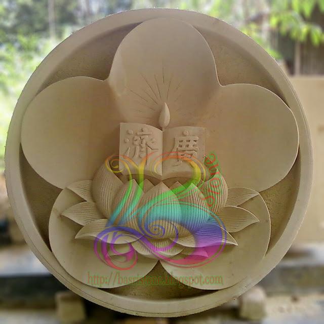 Kerajinan batu alam Symbol bunga lotus china