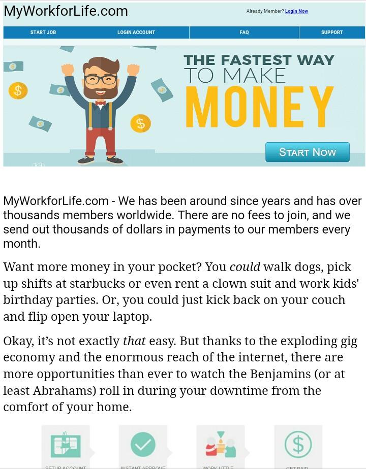 Myworkforlife -scam or legit