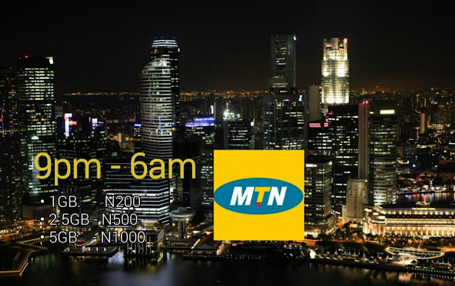 MTN latest Night Plan: Get 1GB For N200, 5GB For N1000