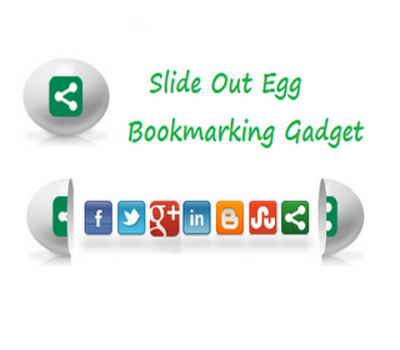 Slide Open Egg Bookmarking Gadget for Blogger