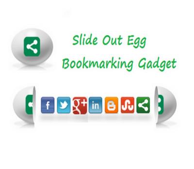 Slide Open Egg Bookmarking Gadget for Blogger