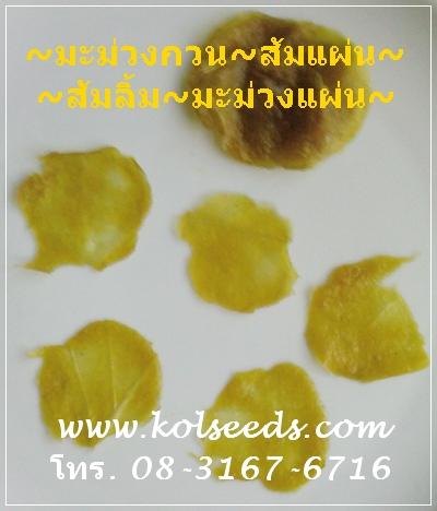 มะม่วงแผ่น มะม่วงกวน ส้มแผ่น ส้มลิ้ม