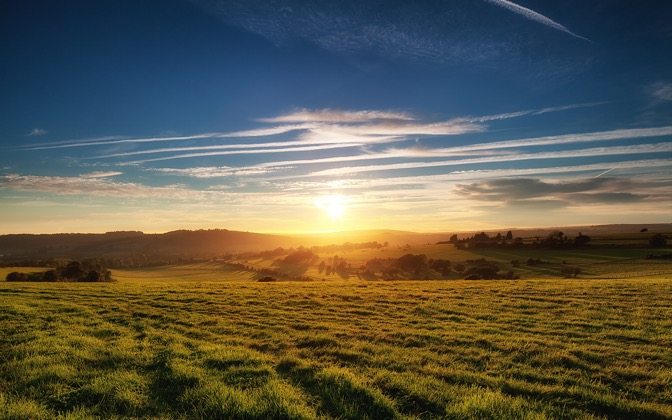 Sunset over Findon by JulianHJ1