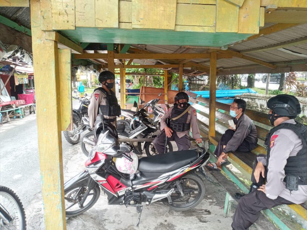 Jamin Kelancaran Aktivitas Masyarakat Balikpapan, Brimob Batalyon A Pelopor Giatkan Patroli Harkamtibmas