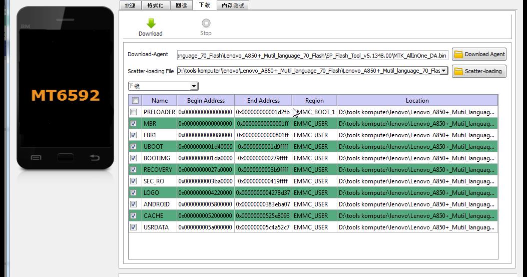 Flash Tools: Download Sp Flash Tool Lenovo A850