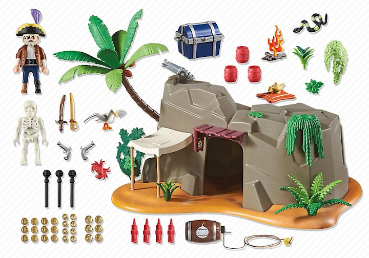 Contenido real de Playmobil® 4797 Cueva Pirata