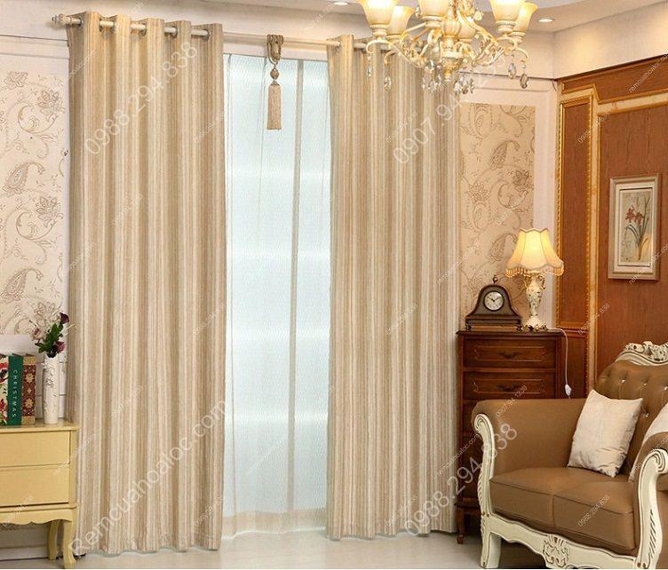 Rèm cửa đẹp ở hà nội một màu 2
