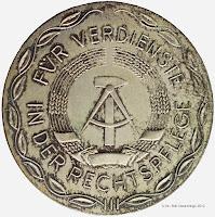 201a Medaille für Verdienste in der Rechtspflege in Silber www.ddrmedailles.nl