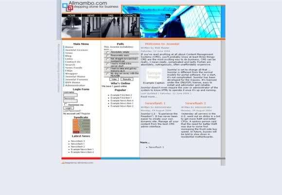 Free Joomla Business Blue Company Theme