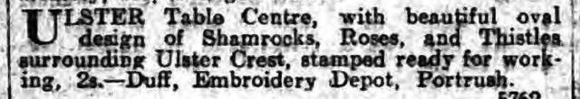Ulster linen 1914