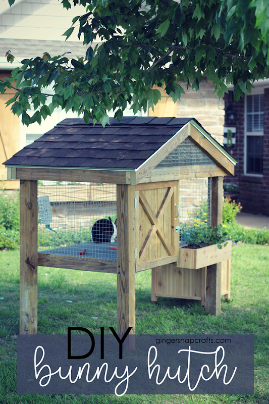 DIY Bunny Hutch at GingerSnapCrafts.com #DIY #bunnies