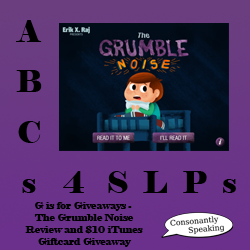 ABCs 4 SLPs: G is for Giveaways - The Grumble Noise Review and Gift Card Giveaway image