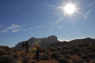 Photo: Bright sun over the hike