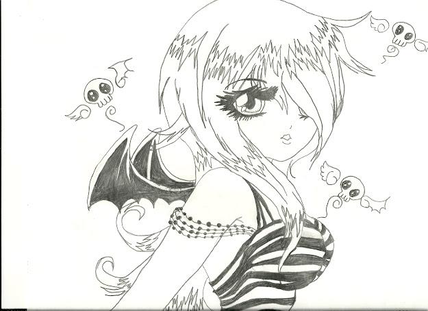 Anime Ako Anime Girl School Girlninja Girlvampirenekoangeldemon