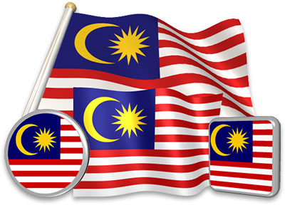 Malaysian flag animated gif collection