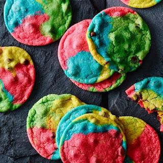 Rainbow Choc-chip Almond Cookies