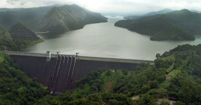 Aerial view of Idukki dam in Kerala, India. Photo: Manorama