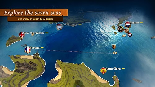 Screenshot 2 Ships of Battle: Ages of Pirates -Wars 'n Strategy 2.5.0 APK+DATA MOD