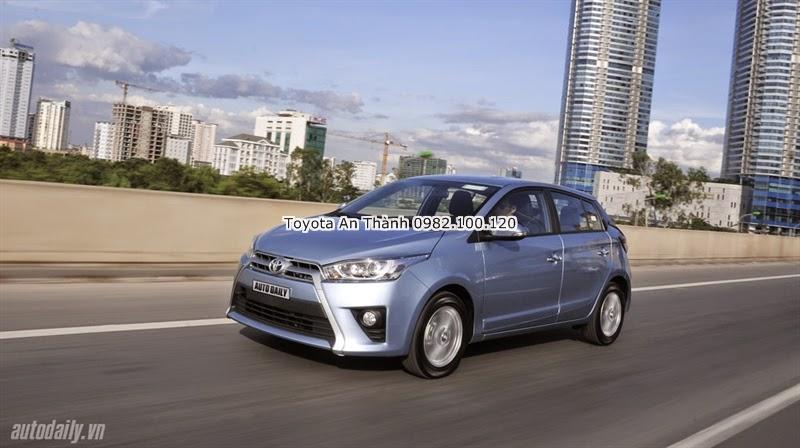 Giá Xe Ôtô Toyota Yaris 2016 1.3 G Nhập Khẩu Màu Xanh