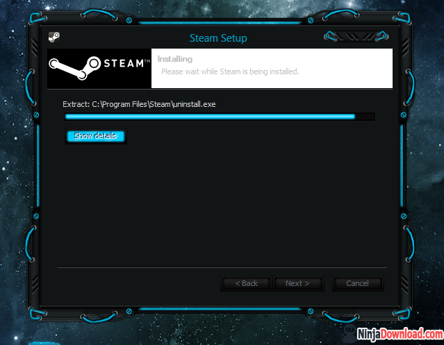 steam is installing