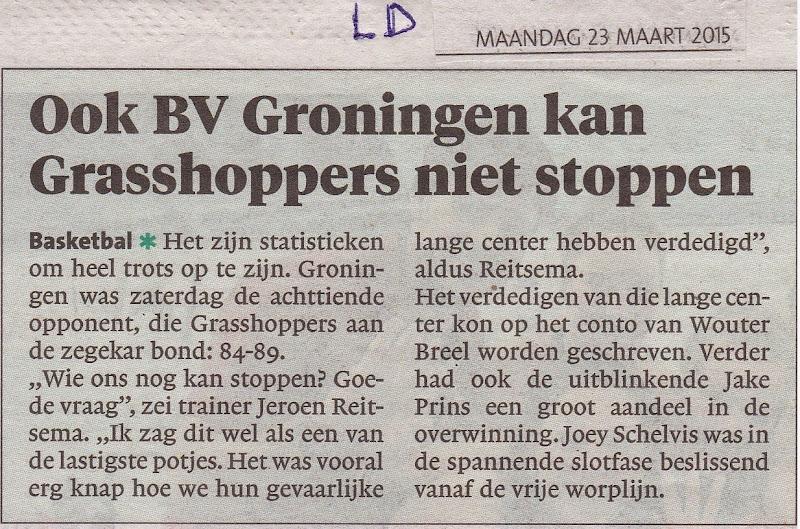 Leidsch Dagblad 23 maart 2015