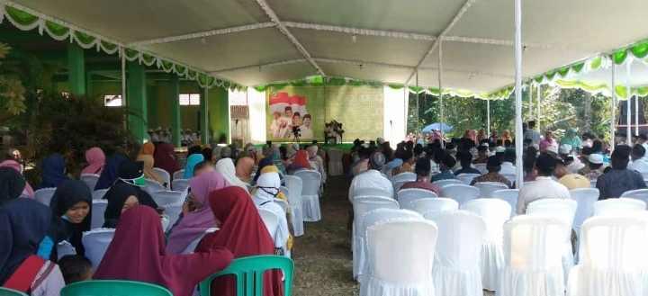 Pondok Pesantren Al Huda, Di Padati Ratusan Warga Yang Akan Mengikuti Acara Pengajian..