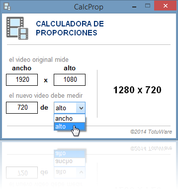 Calculadora de Proporciones