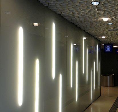Illumination im Hauptbahnhof von Salzburg