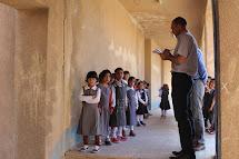 Distribuce školních potřeb v oblasti Zumar v Iráku, září 2015