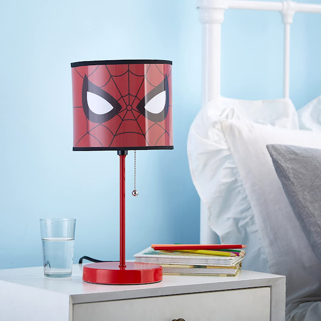 Spiderman Table Lamp with Pull Chain