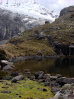 Glacial Triangles on Laguna 69 Trek (Cordilleras Mountains, Peru)