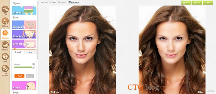 Chỉnh sữa ảnh Online (Làm mịn da, đổi màu mắt, thêm chữ vào ảnh, chuyển ảnh thành tranh vẽ nét chì, v.v..)
