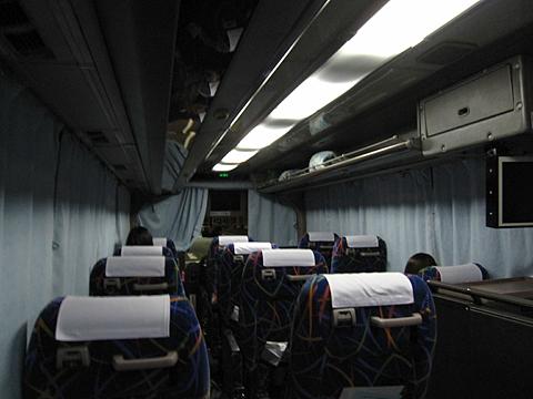 宗谷バス「特急わっかない号」夜行便 ・665 車内