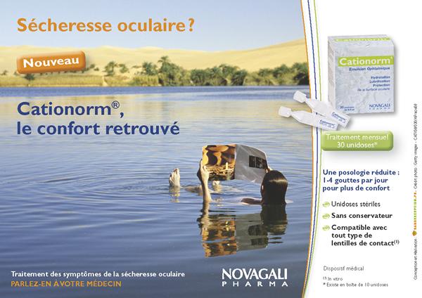 annonce presse Novagali Cationorm -Sans Exception