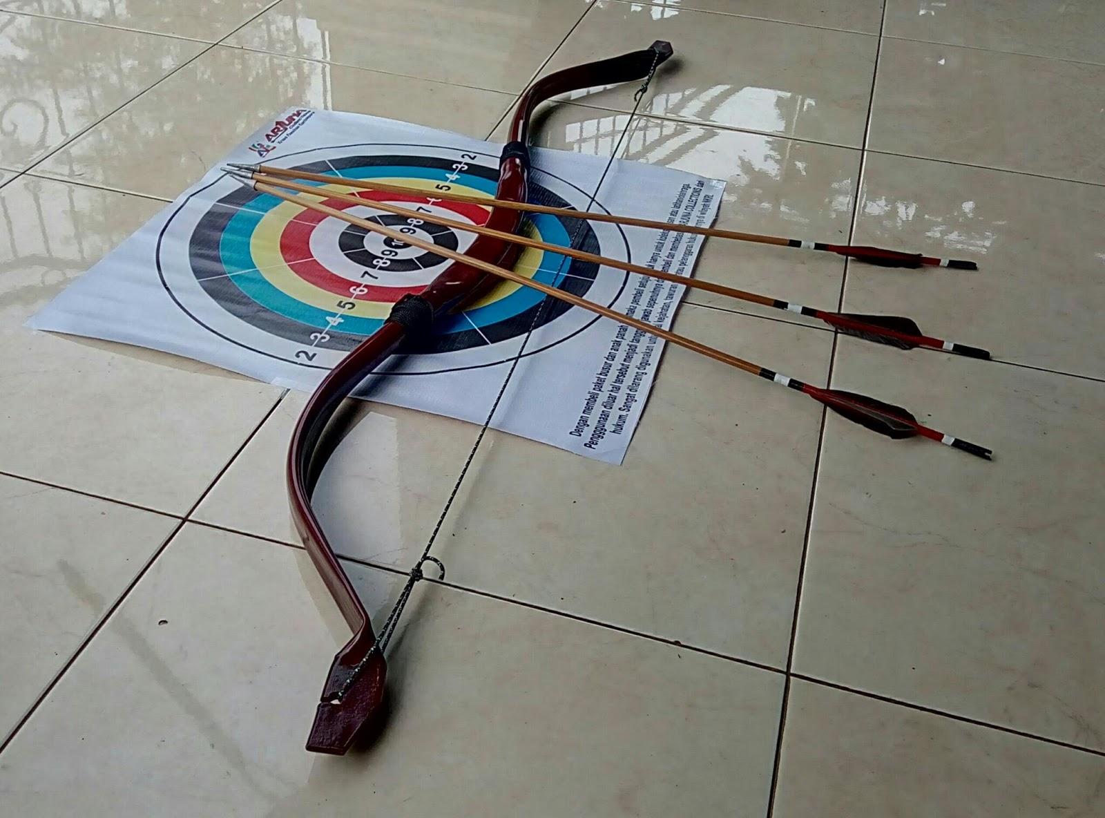 Kreasi Panahan Kontemporer Arjuna Collections Galeri Packing Face Target Satu Paket Busur 3 Anak Panah Dan 1 Archerykreasi Jual