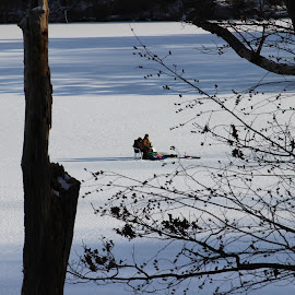 Ice fishing, brr by Janet Smothers - Sports & Fitness Snow Sports