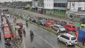 Under Pass Tambun Tampak Kemacetan Di Jalan