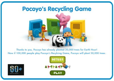 earth hour, my favorite things, green ideas, pocoyo