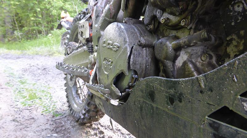 Zerbrochener Kupplungsdeckel an der Super Enduro KTM LC8