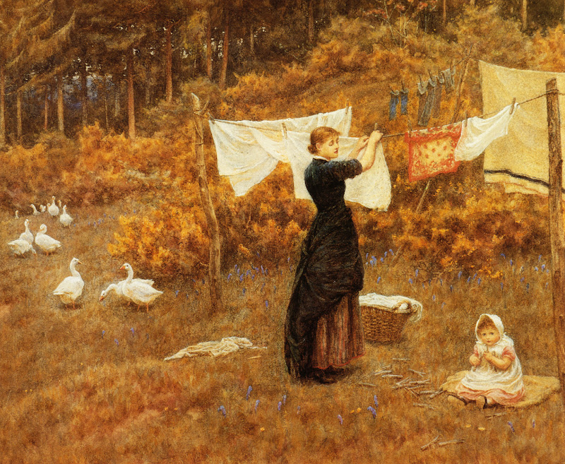 Helen Allingham - The Clothes Line