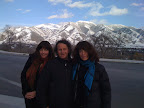 Annie Burns, Terry Hall, Marie Burns in Utah. Lost World Tour