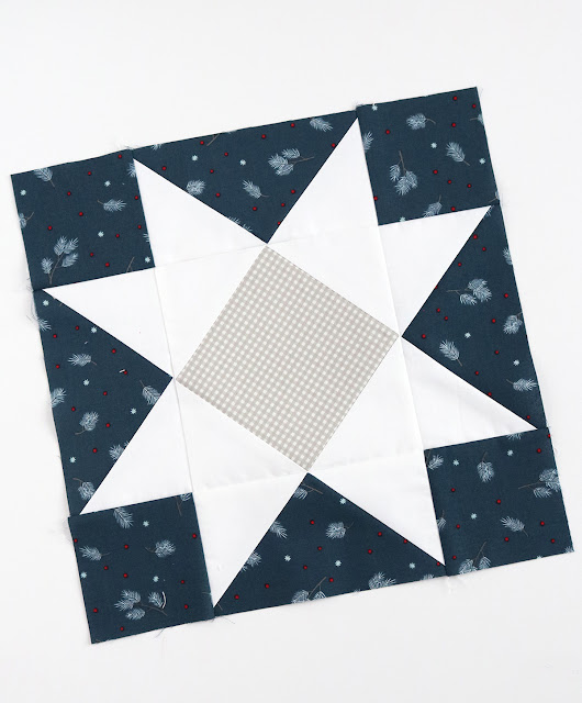Star quilt block found on A Bright Corner - you have to click through to see what she did with this block!