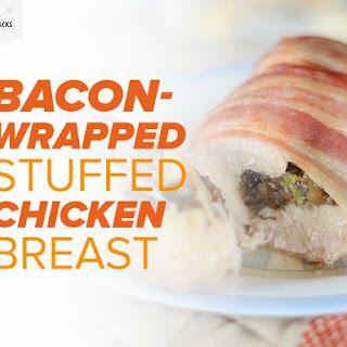 Bacon-Wrapped Stuffed Chicken Breast.