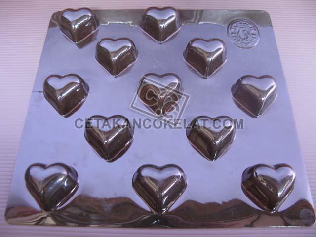 cetakan cokelat coklat tulip love