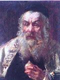 stary rabin, olej, płótno, 24x30 cm kopia nie na sprzedaż