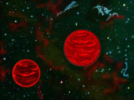 sistema binário de baixa massa