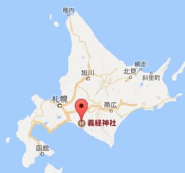 地図:義経神社