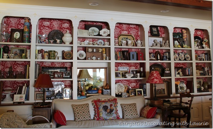 Shelf Decor-Bargain Decorating with Laurie